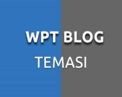 WPT Blog Kişisel WordPress Teması