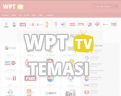 WPT TV WordPress Canlı Tv Teması