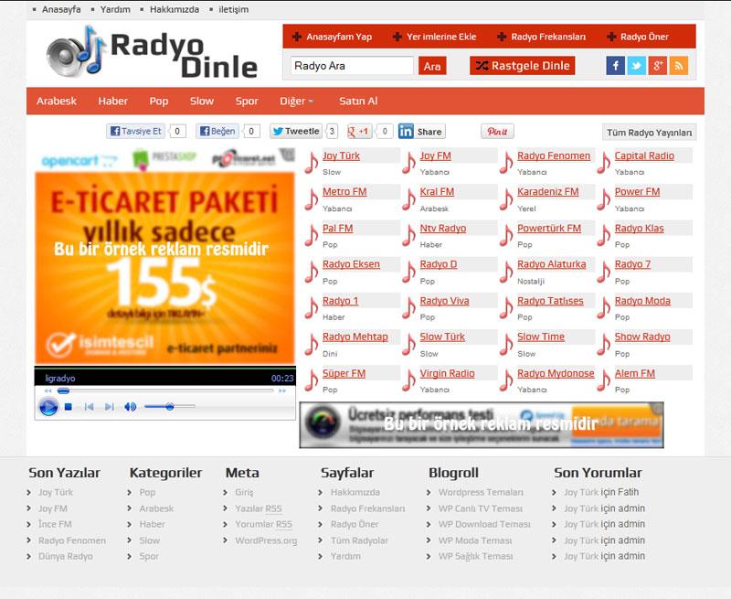 WP Radyo Kırmızı Renk