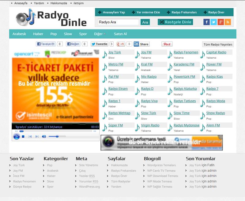WP Radyo Turkuaz Renk