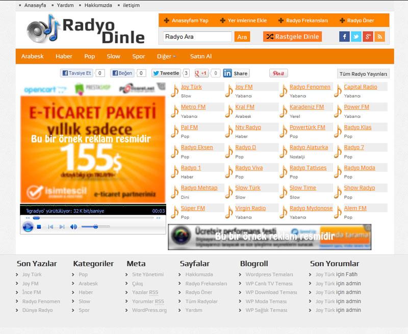 WP Radyo Turuncu Renk